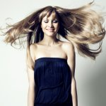 Długie włosy, kobieta
