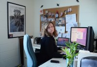 work in office